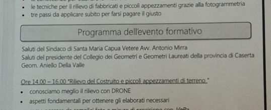 "Venerdi' 19 Luglio a Santa Maria C.V. ""Seminario Droni…"""